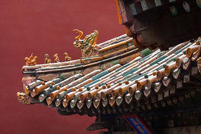 Roof of the Forbidden City in Beijing