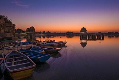 Sunrise scene in India