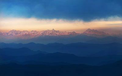 Mountains of Nepal - Blue